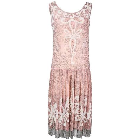 beaded shift dresses pink chiffon beaded shift dress circa 1930s for sale at