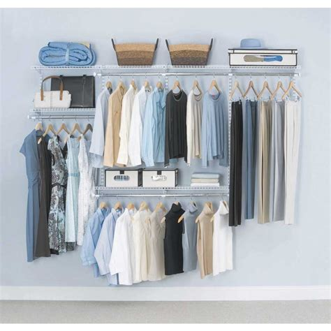 Closetmaid Closet Accessories Closet Organizer Kit Satin Chrome Lowes Closet Systems