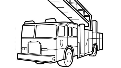 pin fire truck coloring pages on pinterest fire truck outline coloring page fire truck coloring
