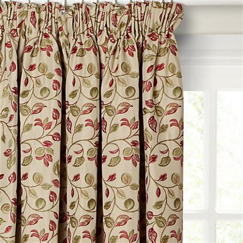 red green curtains buy john lewis sherwood lined pencil pleat curtains john