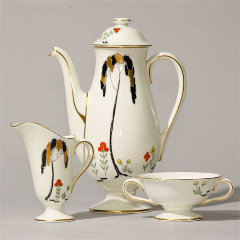 Set Unq royal doulton deco coffee set 15 pc seaway china