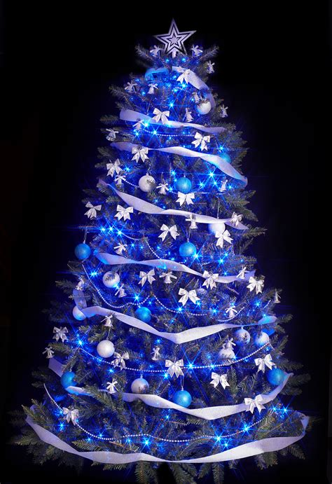 blue christmas tree decorations ideas decoration love