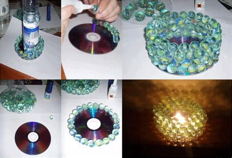 Candle Decoration Craft by Cd Diy Candle Decoration Cd Arts And Crafts