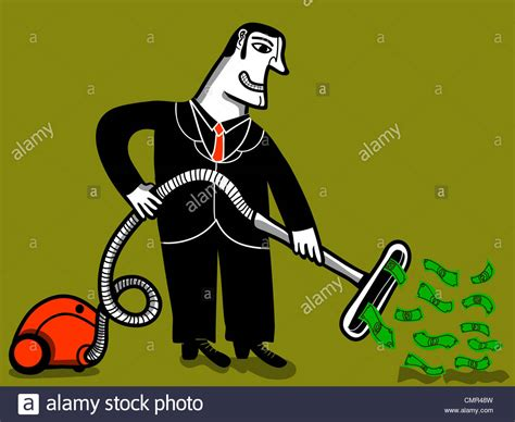 Vacuum Cleaner Happy King happy businessman with vacuum cleaner aspire money stock photo 47222137 alamy