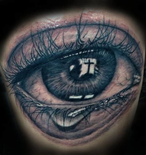 cross tattoo next to eye meaning giant eye with cross reflection by brian quot kasper quot malecki yelp