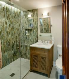 Bathroom Tile Decorating Ideas by Small Bathroom With Marble Vanity Shower Room And Green