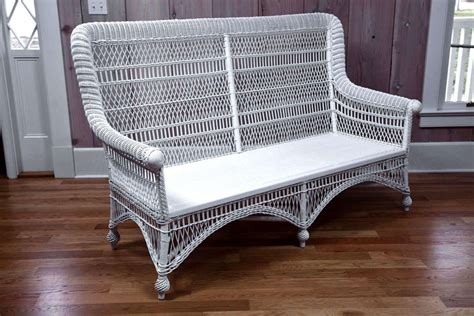 antique wicker loveseat antique victorian wicker rolled arm sofa at 1stdibs