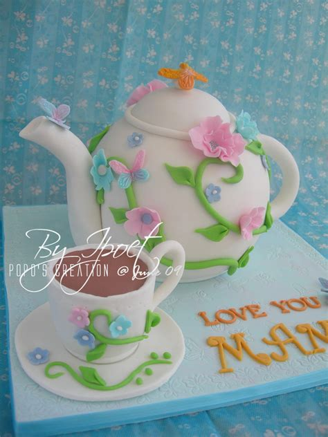 Set Kupu2 4 popo s creation teapot cake