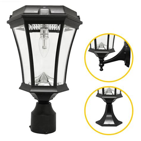 Gama Sonic Victorian Bulb Series Single Black Integrated Solar Led Lights For Homes