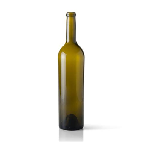 750 ml antique green glass claret wine bottle with cork neck finish packaging options direct