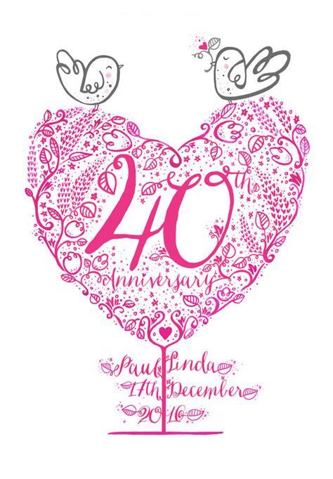 40th Wedding Anniversary Gift Ruby by 40th Ruby Wedding Anniversary Gift Print By Wetpaint