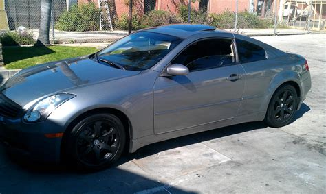 grey tint dark grey tinted tail lights and black rims g35 coupe