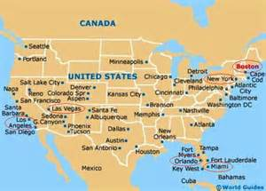 Map From New York To Boston by Las Vegas Usa Away