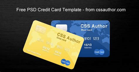 Visa Credit Card Photoshop Template awesome credit card template psd for free free psd