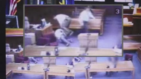 how to remove a judge from the bench video shows judge remove robe leave bench to tackle