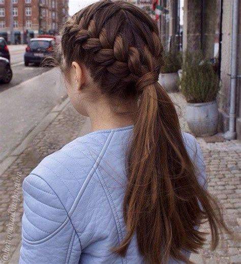 hairstyles for thick hair at school 25 best ideas about 6 strand braids on pinterest