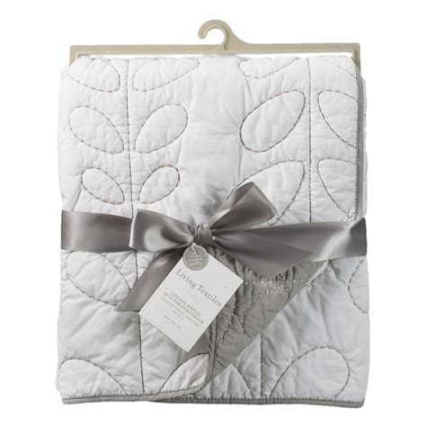 Grey Quilted Comforter by Grey And White Quilted Crib Comforter By Lolli Living