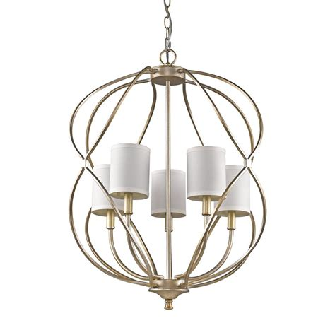 Home Depot Chandelier Shades Acclaim Lighting 5 Light Indoor Antique Silver Chandelier With Shades In11115as The
