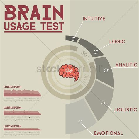 brain test italiano brain usage test infographic vector image 1517442