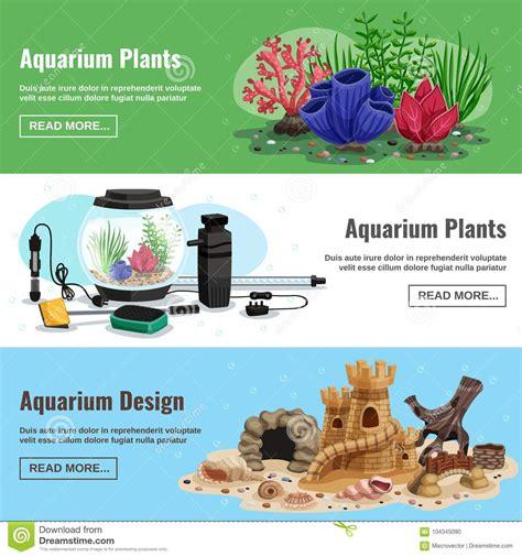 Aquarium Design Eps | aquarium horizontal banners stock vector illustration of