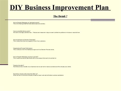 business process improvement plan template business process improvement sipoc and toolkit