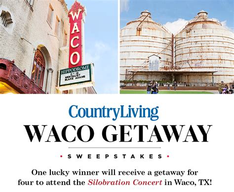 country living waco getaway sweepstakes