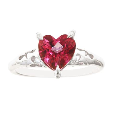 sterling silver shape pink topaz ring