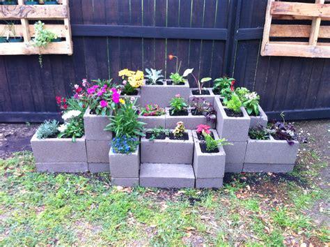 cinder block flower bed cinder block flower garden cinder block pinterest