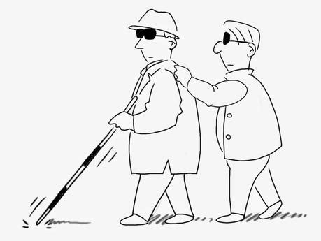 how to a guide for the blind blind leading the blind eyesight problems and finding the guide paperblog