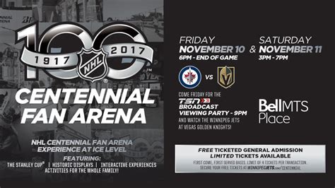 nhl centennial fan arena jets to host nhl 174 centennial fan arena at bell mts place