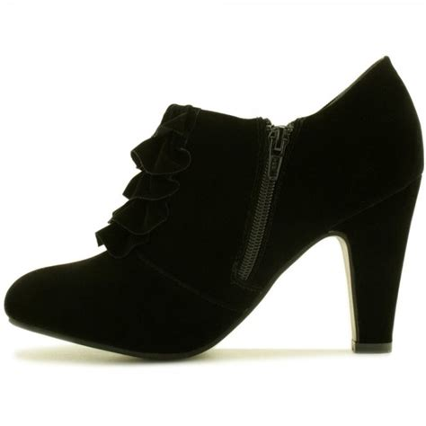 buy black heel ankle boots black