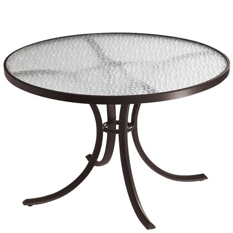 42 Glass Dining Table Tropitone 1842 Acrylic And Glass Tables 42 Inch Dining Table Discount Furniture At Hickory