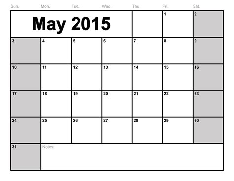 free printable calendar template 2015 may 2015 calendar printable blank calendar template