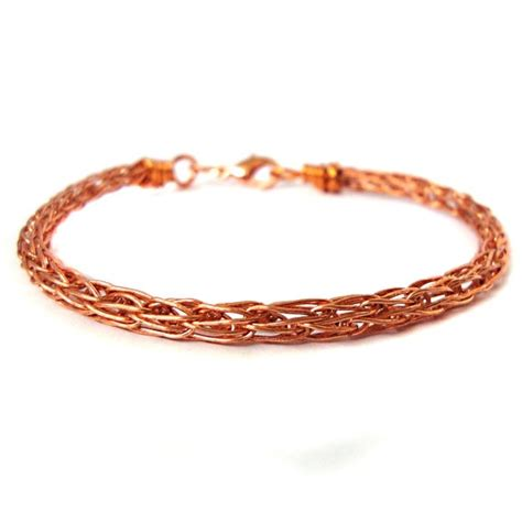 viking knit jewelry copper viking knit bracelet 24 etsy marketplace