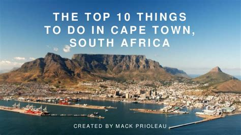 the top 10 things i the top 10 things to do in cape town south africa