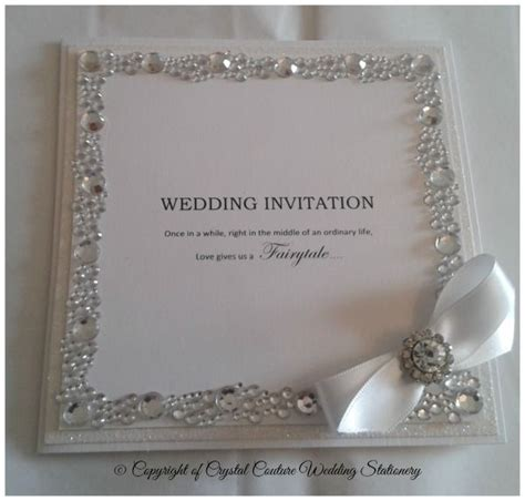 wedding invitations with crystals 19 best images about inbjudningar on fancy