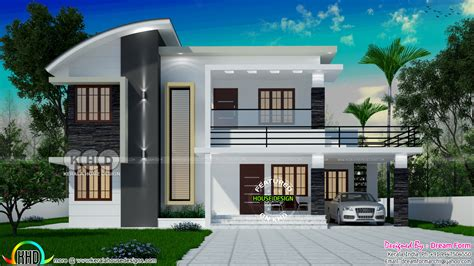 1991 square 4 bedroom modern house plan kerala home