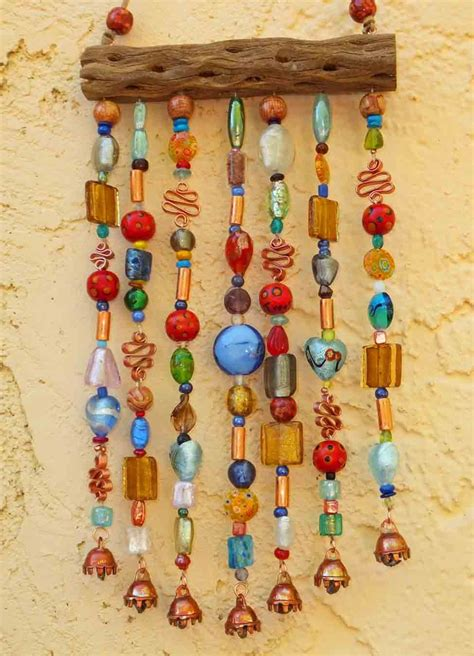 cholla cactus wood ls beaded wind chime suncatcher on cholla wood with bells