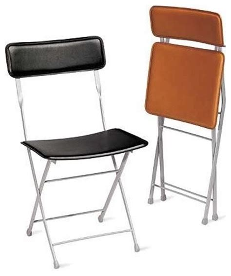 contemporary folding chairs lina leather folding chair design within reach