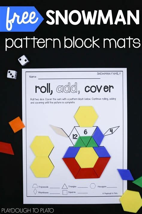 pattern block activities for first grade snowman pattern block mats pattern blocks kindergarten