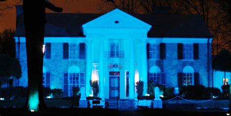 graceland lights graceland lights up blue for autism awareness