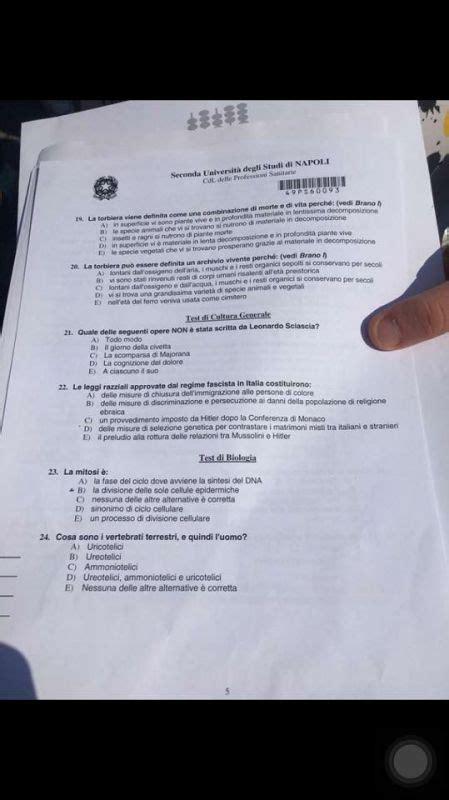 test italiano interno it professioni sanitarie test cineca domande 2016 studentville