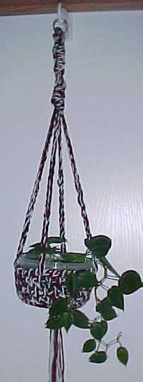 How To Make Plant Hangers Out Of Yarn - crochet pattern for plant hanger made out of rug yarn