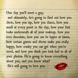 One day you will meet a guy i love my lsi
