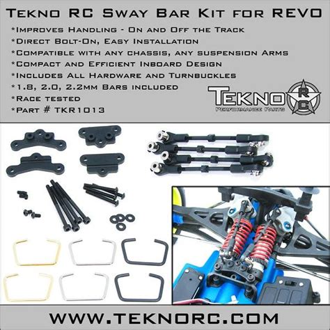 Tekno Rc Sway Bar Kit Revo Tkr1013 tekno rc sway bar kit for revo rc car