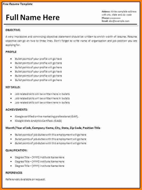 Resume Template In Word Format by 7 Resume Format Ms Word Ledger Paper