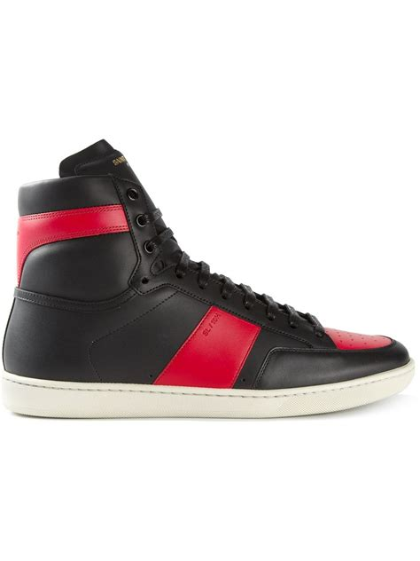 laurent sneakers mens laurent court classic sneakers in black for lyst