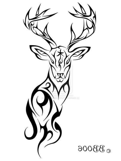 tribal deer tattoo 25 best ideas about deer antler tattoos on