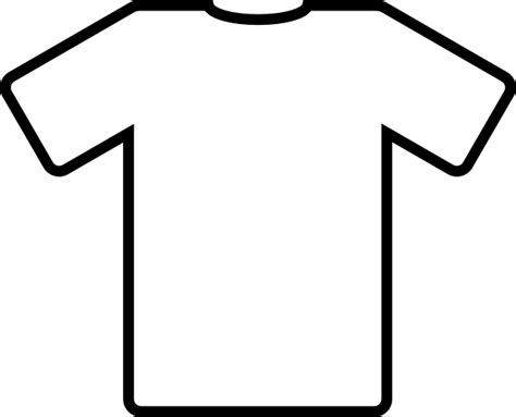 Football Shirt Outline by White T Shirt Clip At Clker Vector Clip Royalty Free Domain