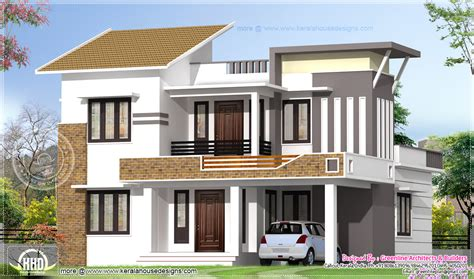 exterior house design 2035 square feet modern 4 bedroom house exterior house